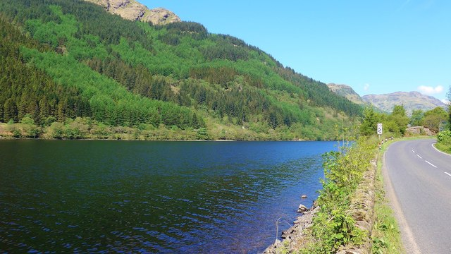 The A815 by Loch Eck