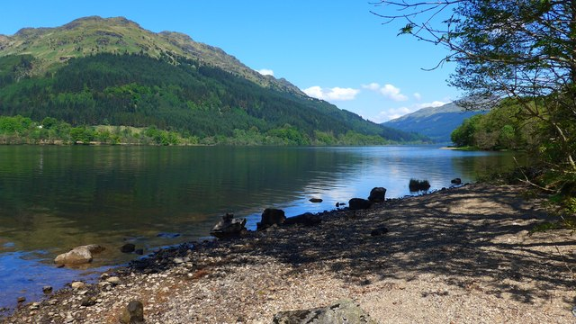 Small beach by Loch Eck