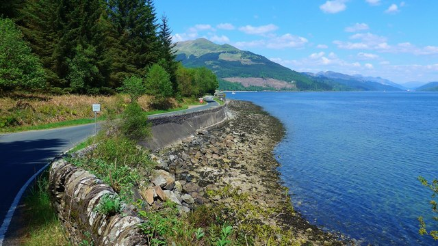 The Ardentinny road by Loch Long