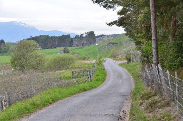 Road west of Laggan