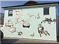 SC2667 : Street art on the rear of the Town Hall at Castletown by Richard Hoare