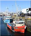 NJ9966 : Interloper at Fraserburgh harbour by Bill Harrison