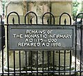 TG2308 : Monastic infirmary pillars (plaque) by Evelyn Simak