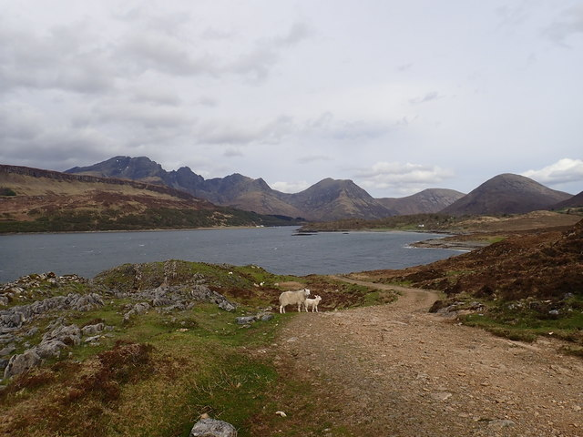 Loch Slapin and the hills in the background
