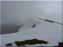 NN3340 : Snowfields near the summit of Dothaidh by Richard Law