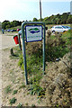TM4762 : Sizewell Beach Car Park sign by Adrian Cable