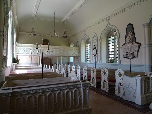 Interior of Shobdon church