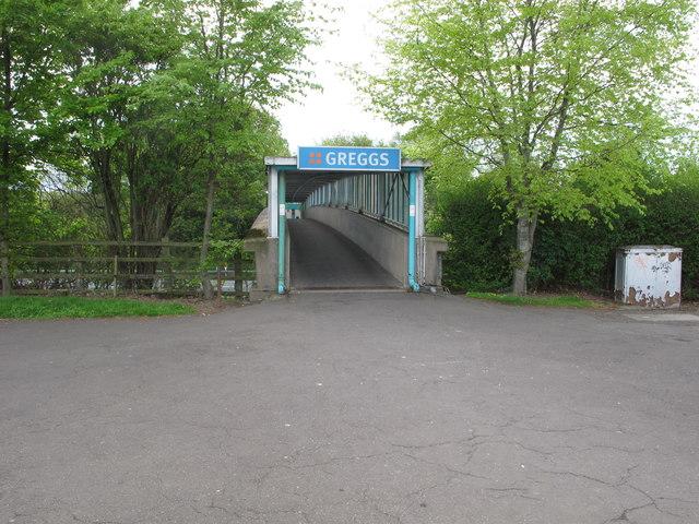 Footbridge across M6, Southwaite Services