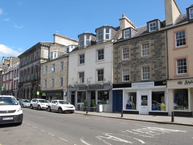 High Street Hawick with Brodies Restaurant