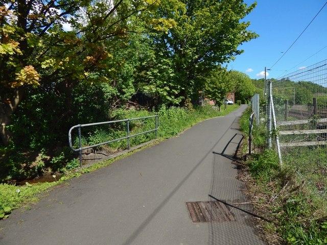 Cycle path crossing the Milton Burn