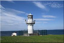 NJ9967 : Foghorn and lighthouse, Kinnaird Head, Fraserburgh by Bill Harrison