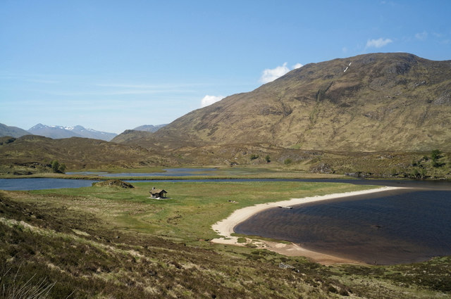 Jetty and bothy at the head of Loch Affric