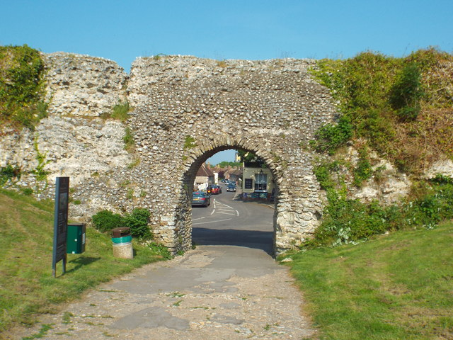 Arch at Pevensey Castle