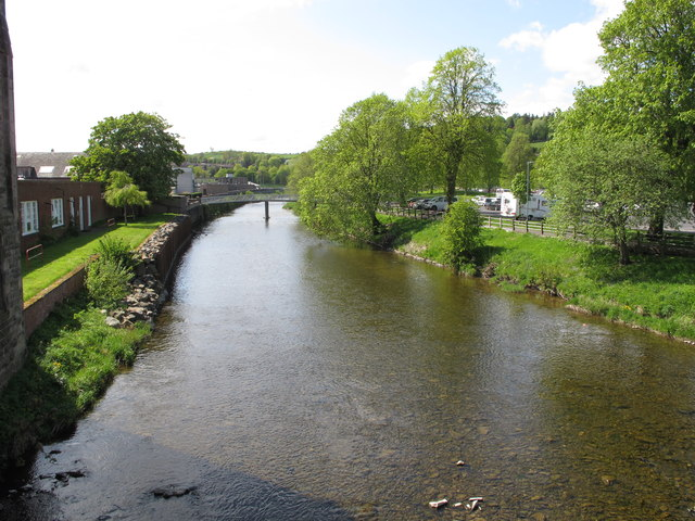 River Teviot at Hawick, from Albert Road bridge