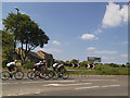 SE2443 : Cyclists passing through Bramhope by Stephen Craven