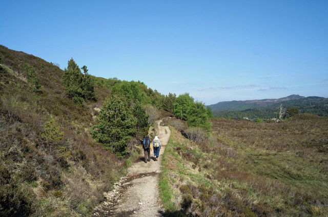 Walking the track on the north slope of Loch Affric