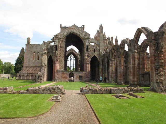 Melrose Abbey, Cistercian founded 1136