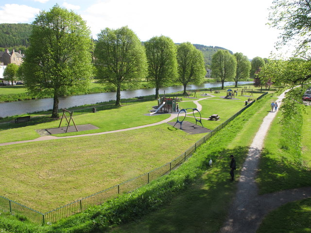 Play area by River Tweed, Peebles