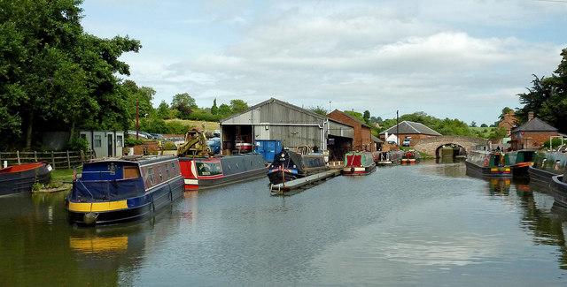 Canal boatyard near Braunston in Northamptonshire