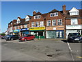 SP1180 : Shops and businesses by the Stratford Road island by Richard Law
