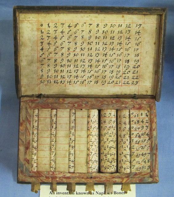 """""""Napier's bones"""" calculator aid at Traquair House"""