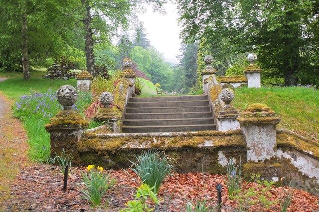 Stone steps, Dawyck Botanic Garden