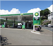 SX2553 : BP filling station, Station Road, Looe by Jaggery