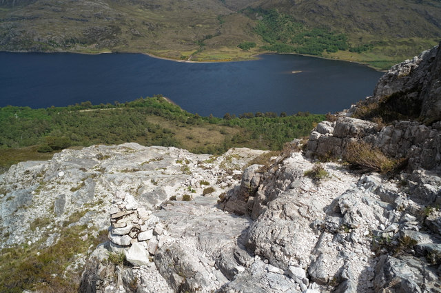 Steep rock section of the Beinn Eighe Reserve Mountain Trail