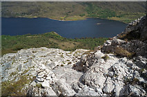 NG9964 : Steep rock section of the Beinn Eighe Reserve Mountain Trail by Julian Paren