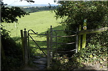 ST7581 : Cotswold Way Gate between Old & Little Sodbury, Gloucestershire 2011 by Ray Bird