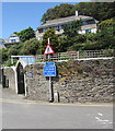 SX2553 : Three signs on a Looe corner by Jaggery