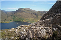 NG9963 : East end of Loch Maree from the Mountain Trail by Julian Paren
