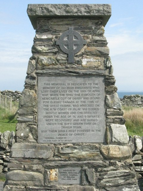 Detail of the Memorial at Sanaigmore
