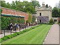 NT7034 : Walled garden cafe, Floors Castle by David Hawgood