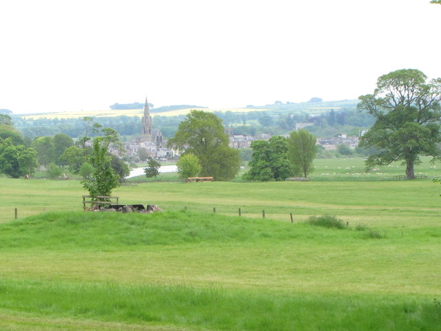 Floors Castle Park, view to River Tweed and Kelso