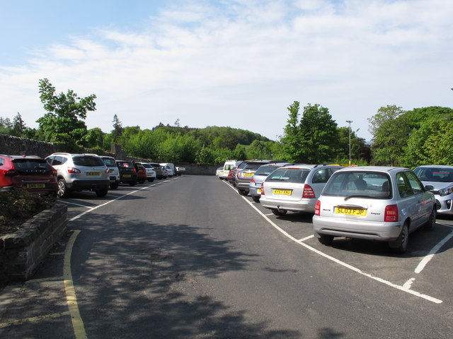 Selkirk, car park for Halliwell's House Museum