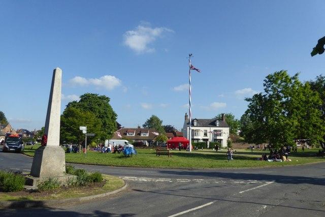 War memorial and green