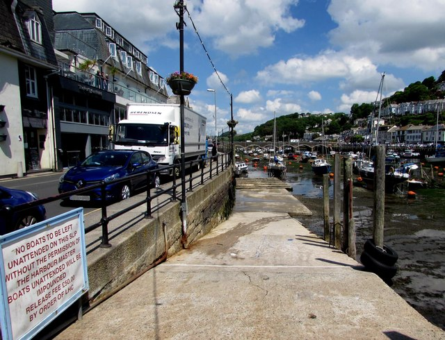 Slipway into Looe Harbour