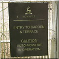 """NT4227 : """"Caution - auto-mowers in operation"""" at Bowhill by David Hawgood"""