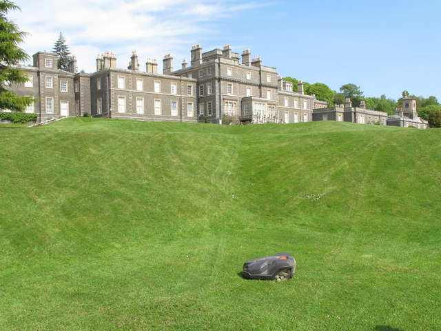 Bowhill House, lawns - and auto-mower