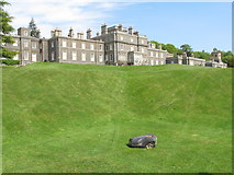 NT4227 : Bowhill House, lawns - and auto-mower by David Hawgood