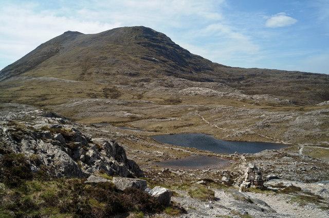 Loch Allt an Daraich from the summit of Leathad Buidhe