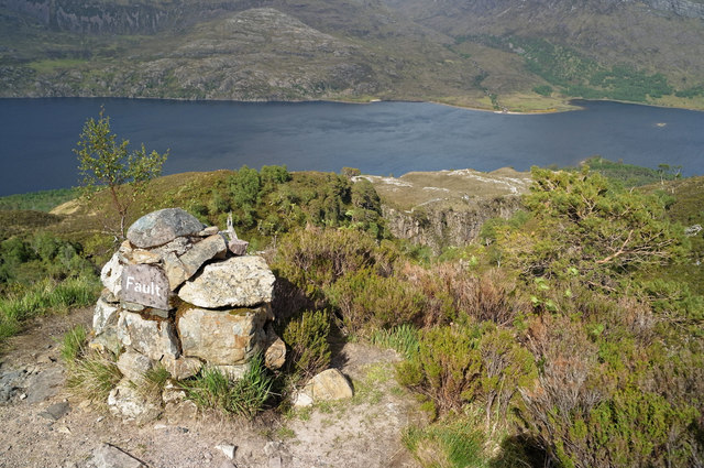 Fault Cairn on the Beinn Eighe Reserve Mountain Trail
