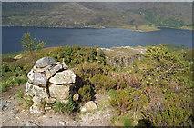 NG9964 : Fault Cairn on the Beinn Eighe Reserve Mountain Trail by Julian Paren