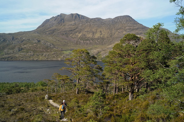 Descending to Loch Maree on the Mountain Trail