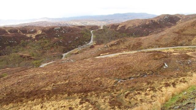 Serpentine road across the moors