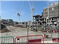 NT2574 : Construction work view from Leith Street, Edinburgh St James by Graham Robson