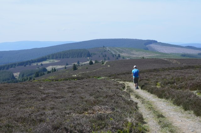 Leaving the summit of Brown Knowe