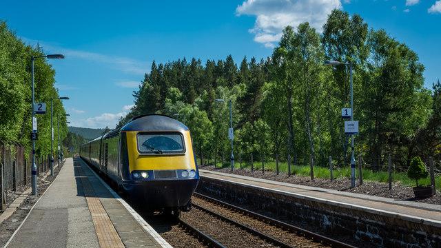 Test running of HST at Carrbridge