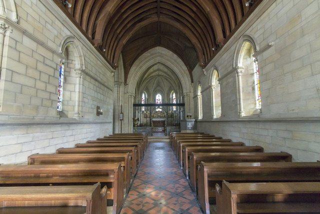 Interior, St Andrew's church, East Heslerton